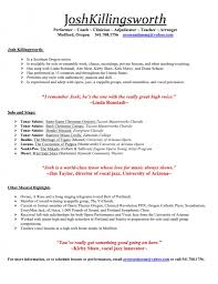Resume Samples Young Adults by Musician Resume Examples