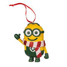 despicable me minion ornament with striped scarf universal orlando