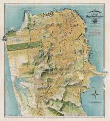 Map Of San Francisco Ca the chevalier map of san francisco from 1912 american info maps