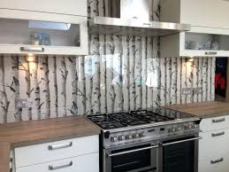wallpaper backsplash kitchen kitchen clear glass with great effect wallpaper behind clear glass