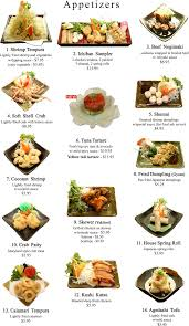 cuisine appetizer japanese appetizers menu ichiban steakhouse allentown pa