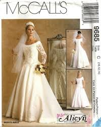 wedding dress sewing patterns mcclintock wedding gown mccall s 9685 vintage patterns