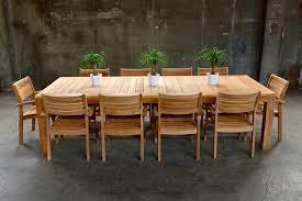 Patio Table Wood Teak Wood Outdoor Furniture Fpudining