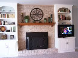 outdoor painted brick fireplace makeover ideas u2014 all home ideas