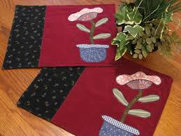 Primitive Table Runners by 24 Best Homemade Modern Quilted Placemats Images On Pinterest