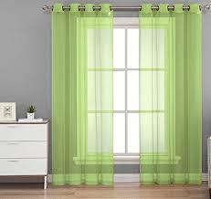 Curtains 46 Inches Long 20 Best Solid Color Voile Sheer Valance Panels Images On Pinterest