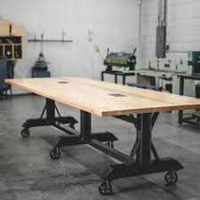 Inexpensive Conference Table Conference Room Table In Thick 2 5 Top And Reclaimed Wood And