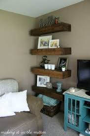Diy Reclaimed Wood Floating Shelf by Diy Floating Shelves Shelves Room And Tutorials