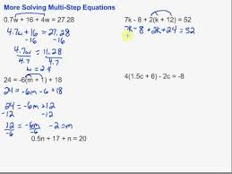 algebra i skills equations w distribution and or combining like