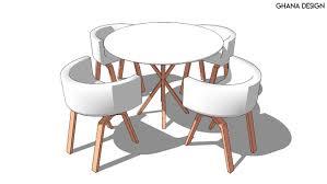 round table with chairs round table with chairs 3d warehouse