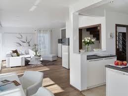 offene küche wohnzimmer wandfarbe cremeweiß für moderne atmosphäre wohnzimmer und offene