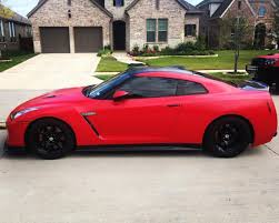 Nissan Gtr Red - nissan gtr wrapped in avery dennison satin carmine red by sharp