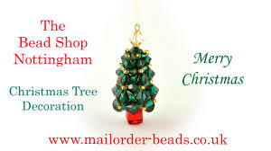 swarovski cubic right angle weave christmas tree decoration diy