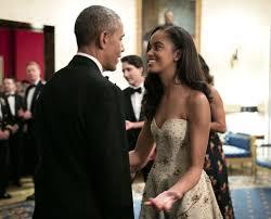 malia and sasha obama at state dinner 2016 popsugar celebrity