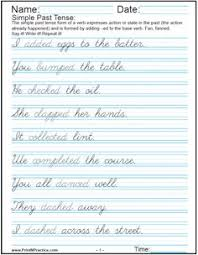 penmanship cursive practice sentence worksheet from jen u0027s shop
