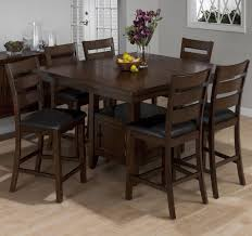 jofran taylor brown cherry counter height dining set with table