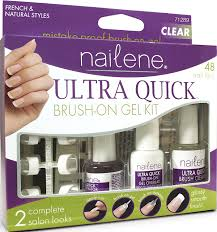 amazon com nailene ultra quick brush on gel clear 71289 kit 1