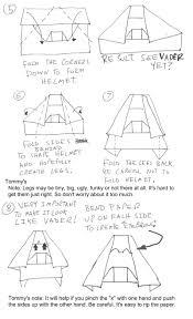origami yoda ii darth paper strikes back folding instructions