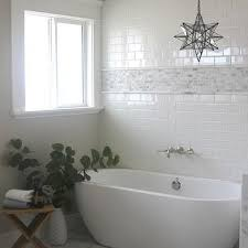 Tile Bathtubs Egg Shaped Tub With White Iridescent Tile Floor Transitional
