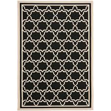 Safavieh Outdoor Rugs Safavieh Courtyard Black Beige 9 Ft X 12 Ft Indoor Outdoor Area