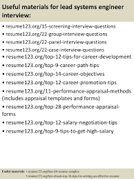 Systems Engineer Resume Sample by Top 8 Lead Systems Engineer Resume Samples