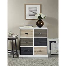 Bedroom Storage Cabinets With Doors Ameriwood Home Mercer 6 Door Storage Cabinet With Multicolored