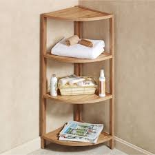 Bookcase With Ladder Ikea by Natural Ladder Shelves With Corner Shelf Design Combined Three