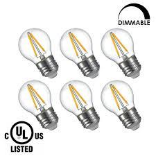 lightstory led edison bulb g14 e26 base 2700k dimmable globe