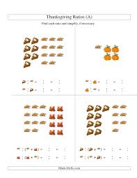 thanksgiving picture ratios including part to whole ratios a