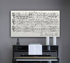 quotes about music on piano sheet music on canvas canvas vows
