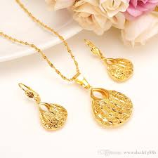fine jewelry necklace store images Fashion bag pendant earring set women party gift fine gold filled jpg