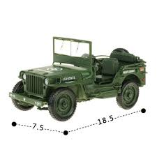 ww2 jeep front alloy military model 1 18 tactical jeep vintage world war ii