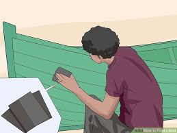 Painting Boat Interior How To Paint A Boat 11 Steps With Pictures Wikihow