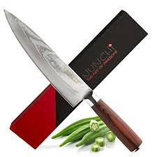 japanese damascus kitchen knives amazon com professional japanese chef knife with vg 10 stainless
