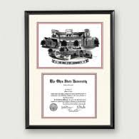 ohio state diploma frame alumni artwork product categories ohio state