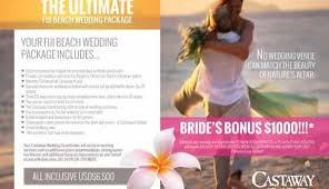 all inclusive wedding packages island fiji wedding packages castaway island fiji