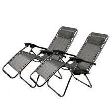 2 zero gravity chair recliner utility tray pool beach aqua brown