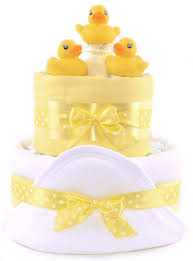 baby shower first 1st swimming nappy cake gift yellow swync