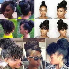 natural hair bun styles with bang a bun with faux bangs is one of my favorite protective styles it