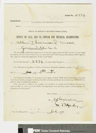 Ecu Campus Map World War I Draft Notice