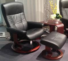 stressless president recliner chair and ottoman by ekornes