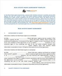 Property Information Sheet Template 8 Agency Agreement Form Sles Free Sle Exle Format