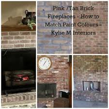 how to match paint color pink and pinkish tan brick fireplaces how to match wall paint