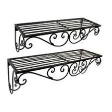 Wrought Iron Bathroom Shelves Stylish Ideas Wrought Iron Wall Shelves Lovely Decoration European