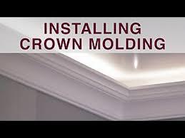 diy molding installing crown molding diy network youtube
