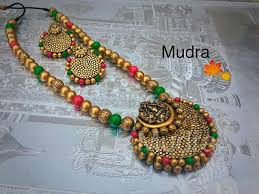beaded necklace jewelry designs images Pin by meena raghavendra on terracotta jewellery designs jpg