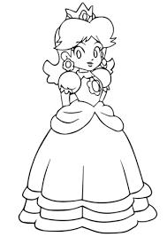 Coloriage  Mario Daisy  Coloriages à imprimer gratuits