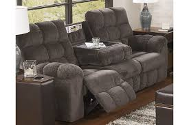 Gray Recliner Sofa Acieona Reclining Sofa With Drop Table Furniture