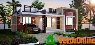 contemporary home design 1108 sq ft single floor contemporary home design