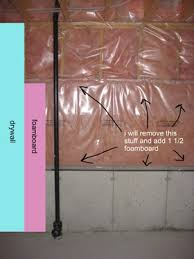 Basement Wall Insulation Options insulating basement half walls my plan buildinghomes ca